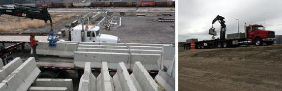Precast Concrete Jersey Barriers
