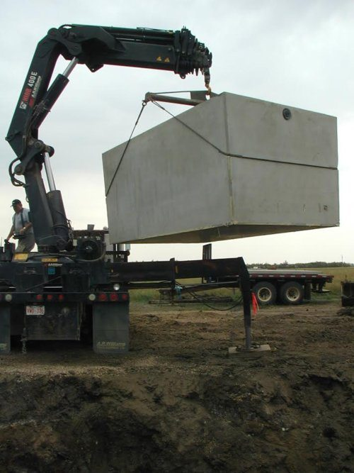 westcon precast concrete water cistern