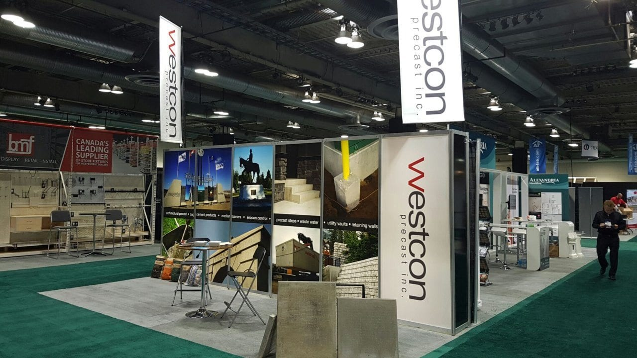 westcon tradeshow set up