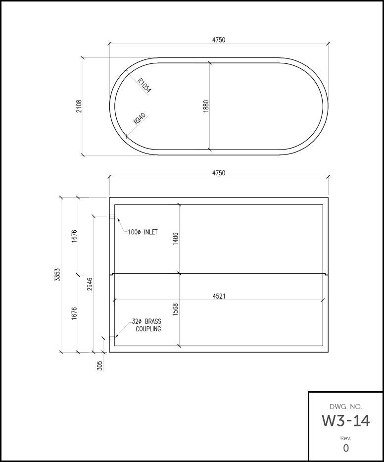 M 5000 Septic Holding Tank schematic