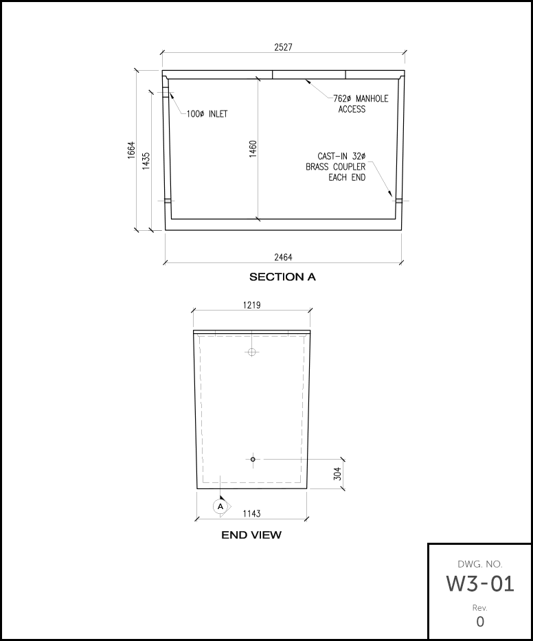 M 700 Septic Holding Tank schematic