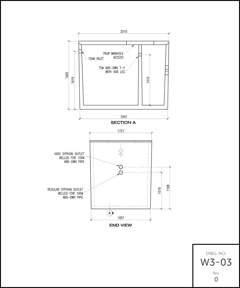 M 1000 Septic Tank schematic