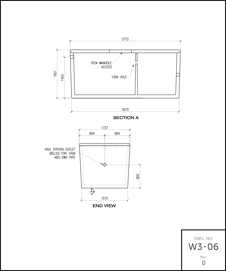 M 1500 Septic Tank schematic