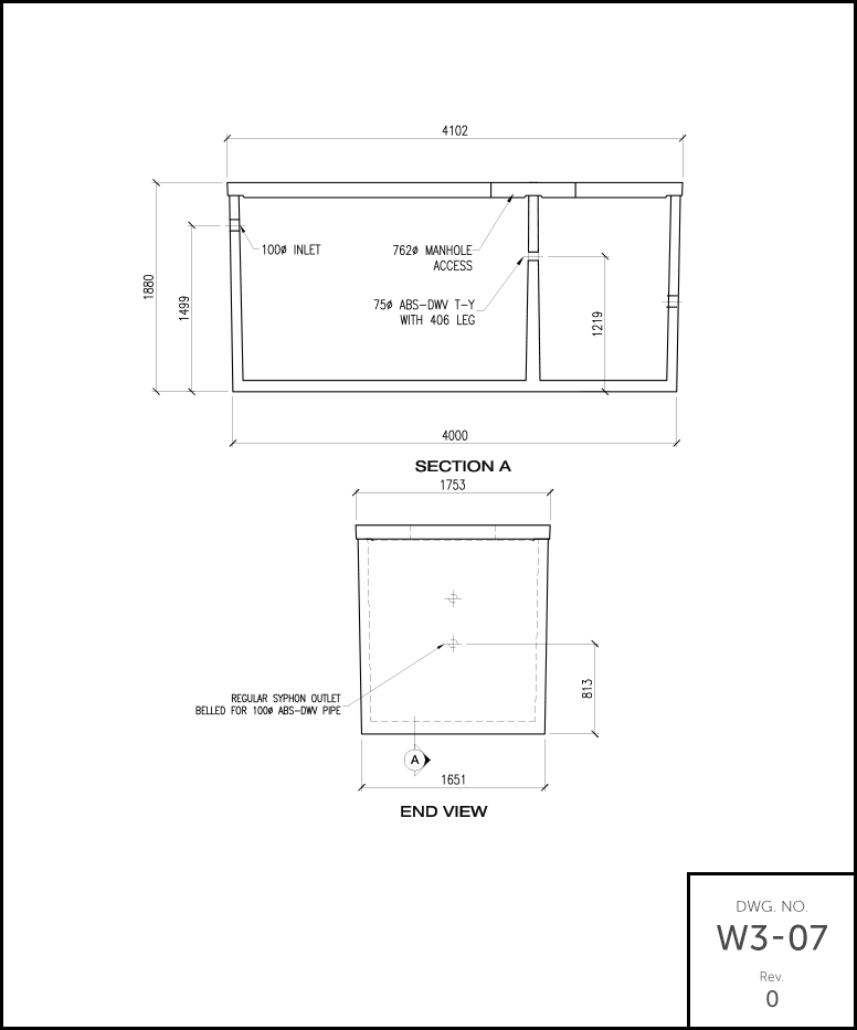 M 2000 Septic Tank schematic