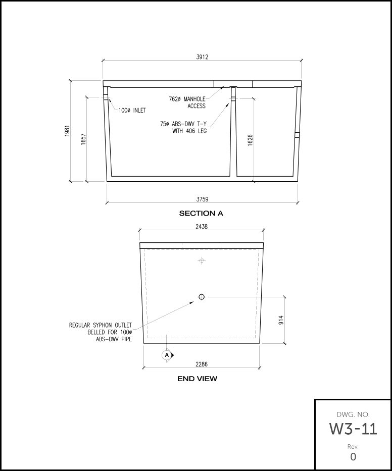 M 3000 Septic Tank schematic