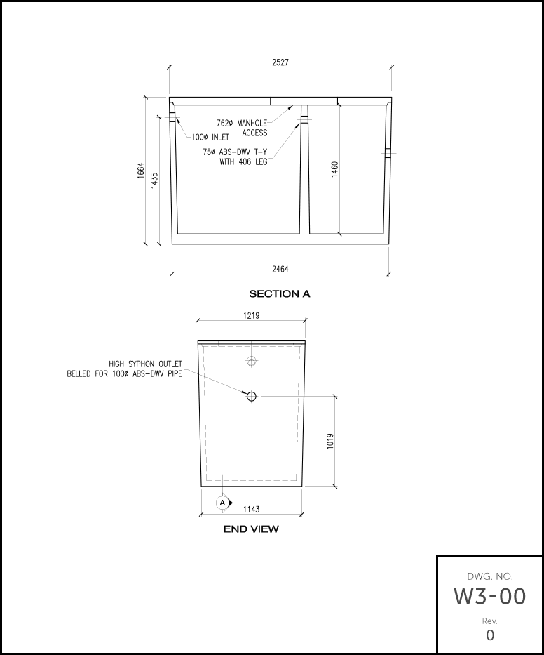 M-700 Septic Tank schematic