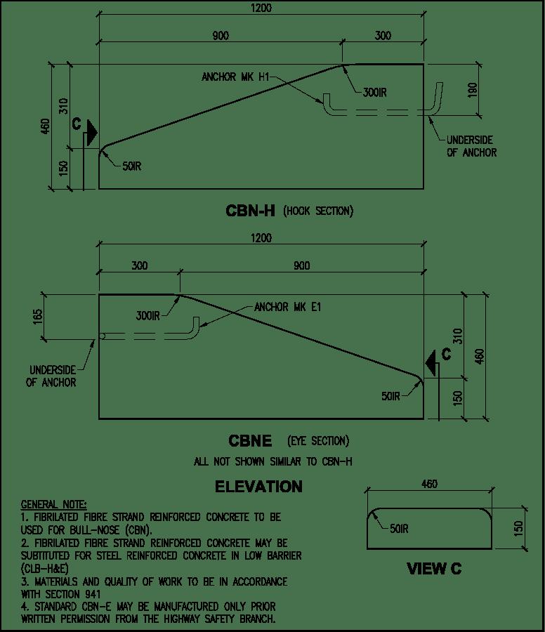 460 Bullnose CBN H & E barrier schematic