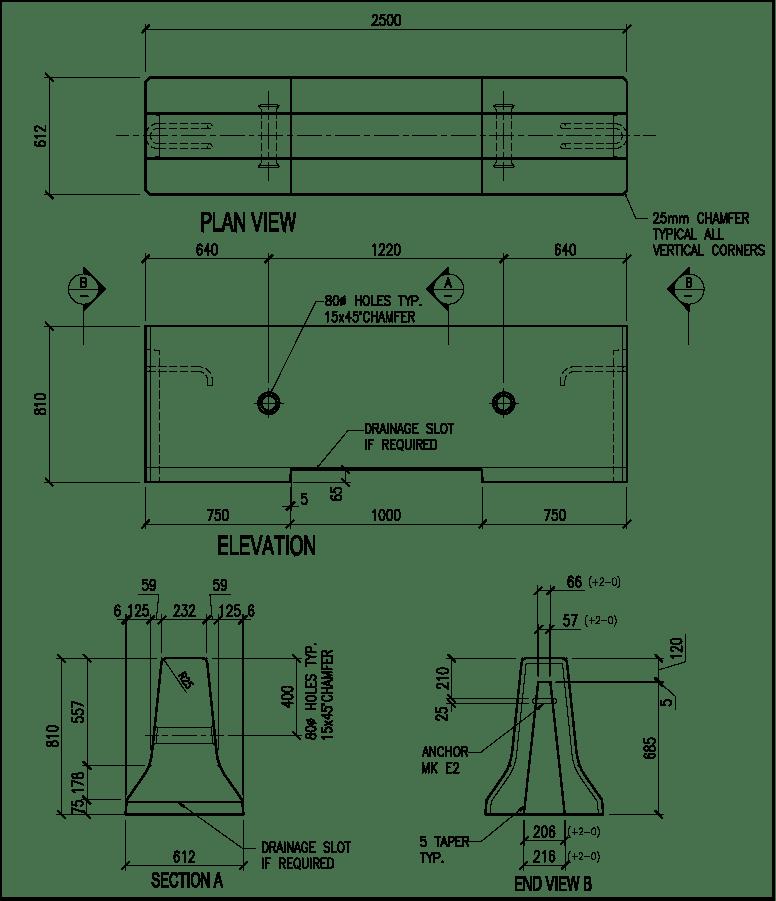 810-CMB-E Barrier schematic